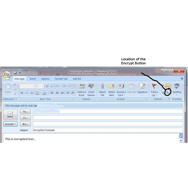 Location of Encrypt option in Outlook 2007 Ribbon