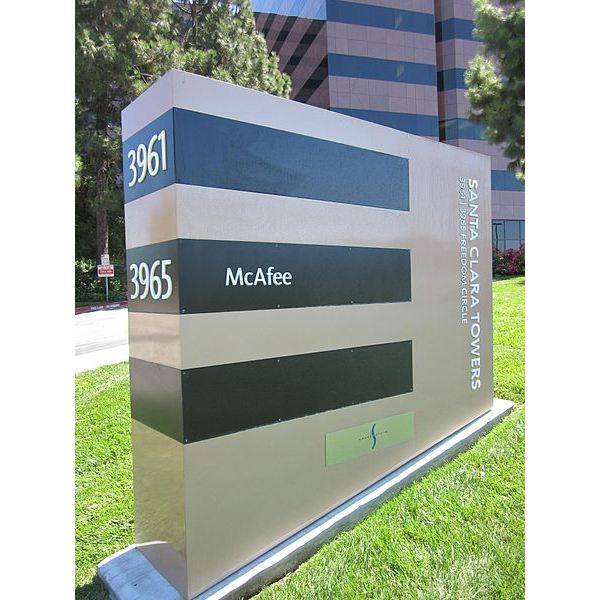 McAfee HQ sign