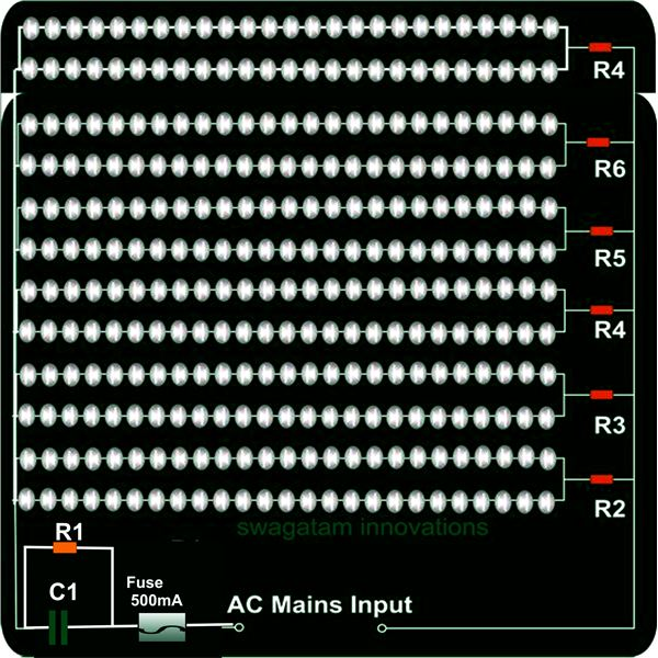 120 V LED Light Fixture Circuit Diagram, Image