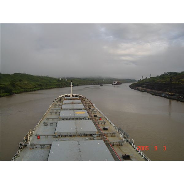 Panamax Bulk Carrier in Panama Canal