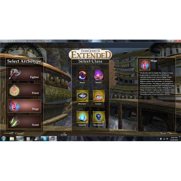 Everquest 2 Extended Class Selection