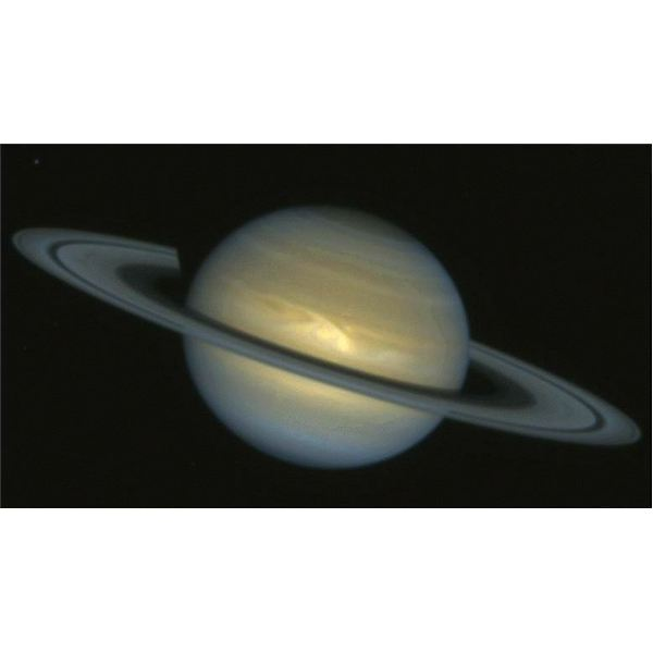 Hubble Space Telescope photo image of Saturn storm
