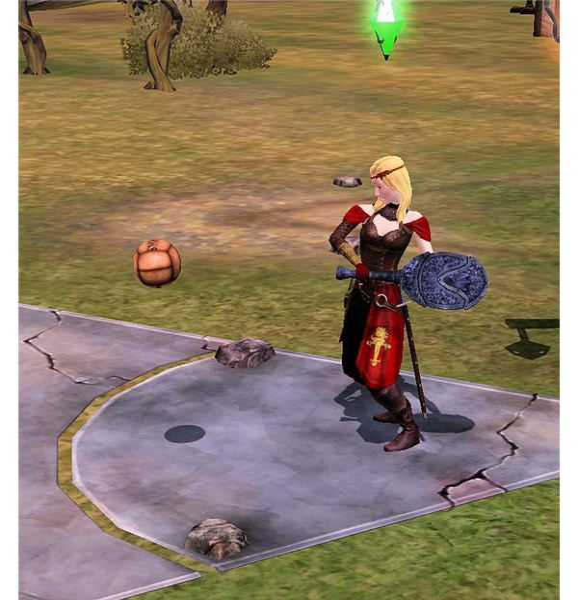 The Sims Medieval Kingball game