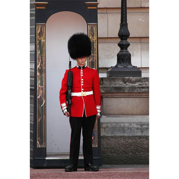 Guard at Buckingham Palace: Courtesy of Public Domain Pictures