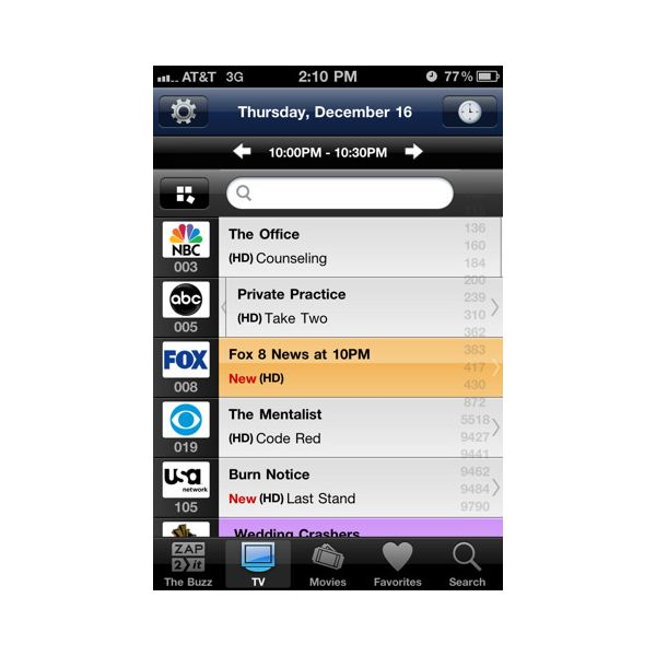 Top Five TV Guide iPhone Apps