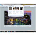 The Bing Rewards toolbar offers easy access to features such as news and weather.