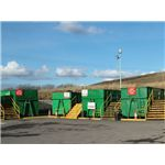 Skips in a recycling centre - geograph.org.uk - 124239