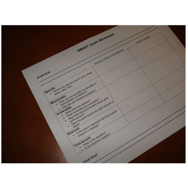 Sample Smart Goals Worksheet Free Template For Download