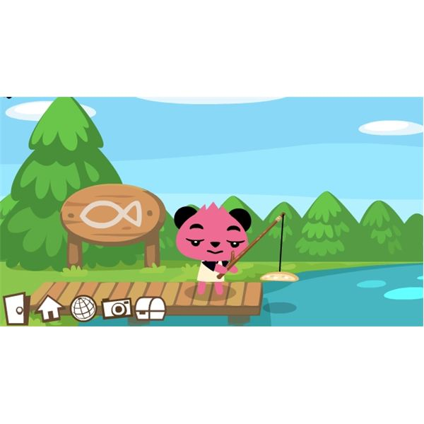 Facebook Game Apps - Fishing in Pet Society Game