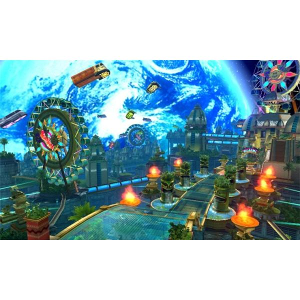 The world of Sonic Colors provides a seamless gameplay experience.