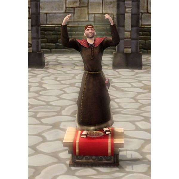 The Sims Medieval Peteran Priest Evangelizing