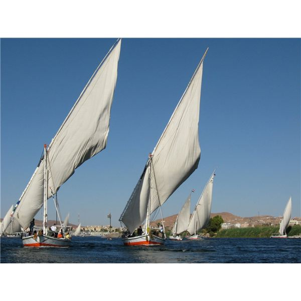 Ancient Egyptian Boats : Feluccas