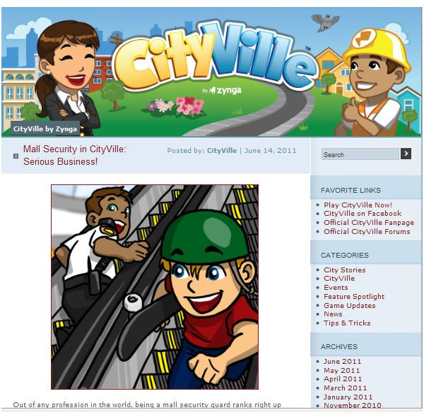 Zynga CityVille Fan Blog