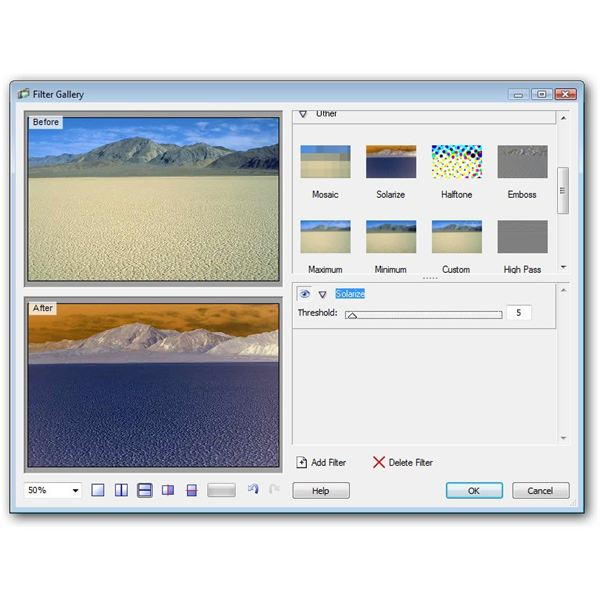 Filter Gallery in PhotoPlus X2