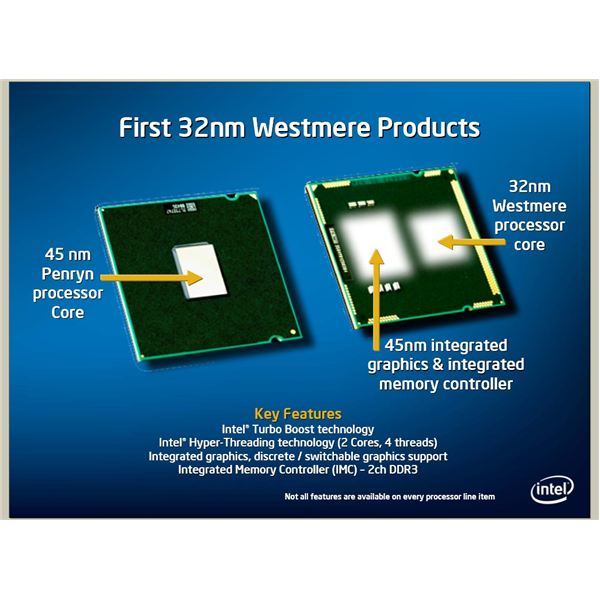 32nm Westmere with 45nm Graphics