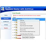 Options for Detected Items by Spyware Doctor
