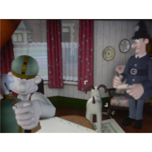 Wallace and Gromit: The Last Resort review - Wallace sat down, as he tries to use one of his inventions to help with the investigation.
