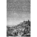 Image of the Famous Leonid Shower of 1833