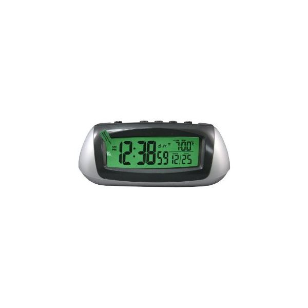 Equity by La Crosse Hybrid Solar Desktop LCD Alarm Clock