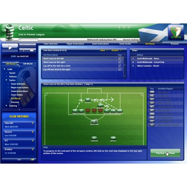 Editing Freekicks and Corners in Championship Manager 2010