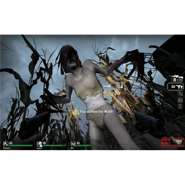 Left 4 Dead Witch Startled