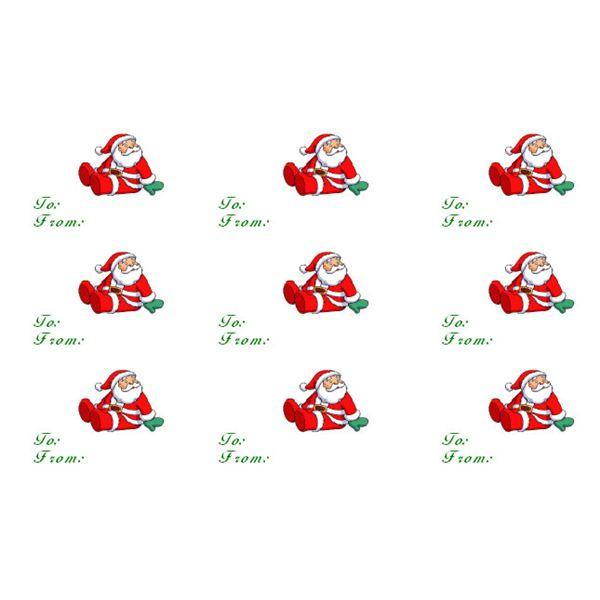 Create Your Own Sitting Santa Clause Gift Tags in Microsoft Word - final