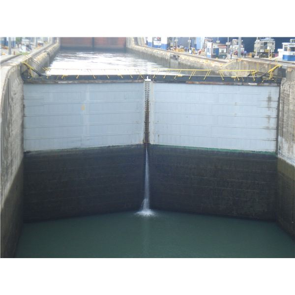 Water Held by Lock Gates