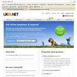 Website for British free dial-up service