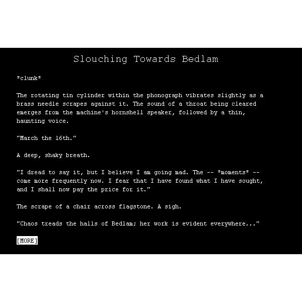 What were you expecting? It's a text adventure.