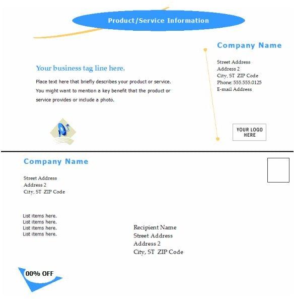 Microsoft Word Postcard Template: Arc Design