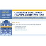 CDFI Website US Treasury