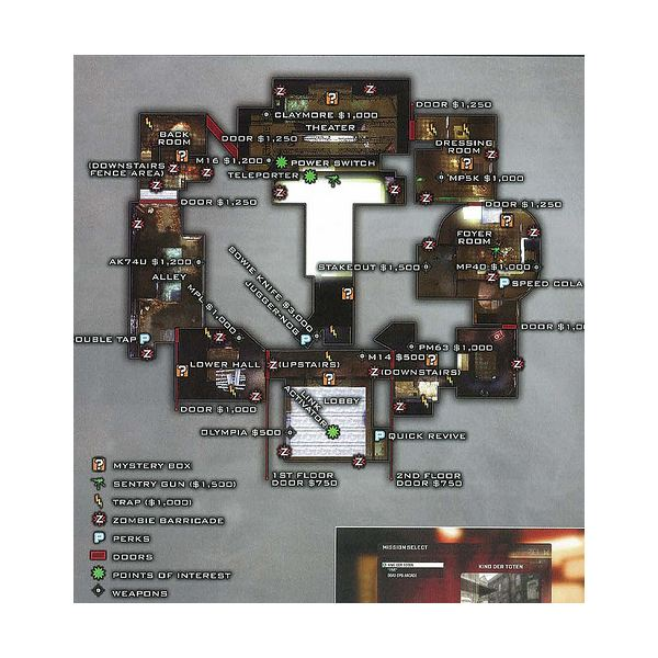 Map of Kino Der Toten