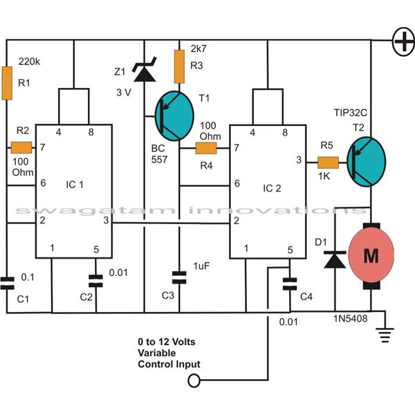 PWM Control Circuit Using IC 555, Image