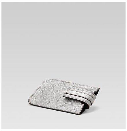 Silver Guccissima Leather