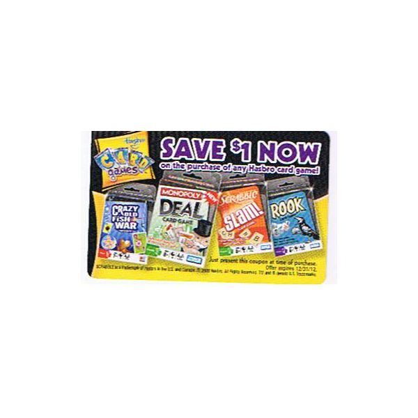 Hasbro Card Game 1.00 off coupon