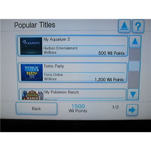Popular Titles on the Wii Shop Channel