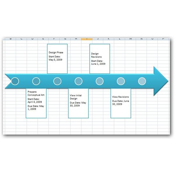 how to construct a project timeline in excel 2007  using