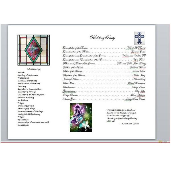 wedding program3