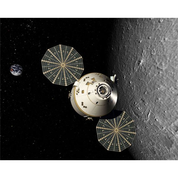 Orion in Lunar Orbit - Artist Rendition