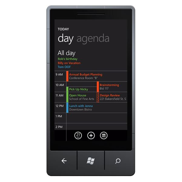 Windows Phone 7 Calendars
