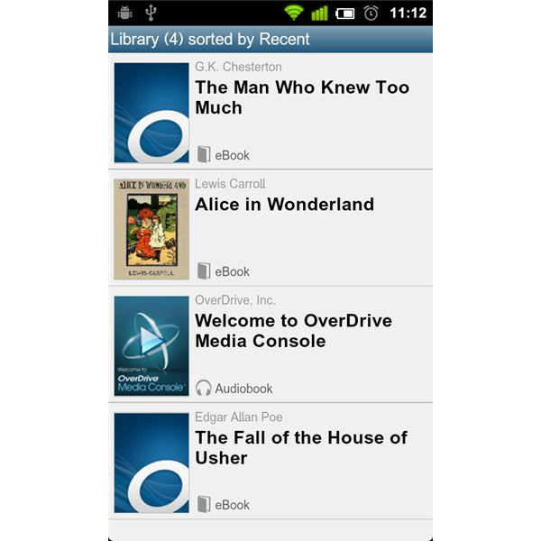 Overdrive Library List