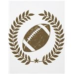 Football Olive Leaf and Star Flyer