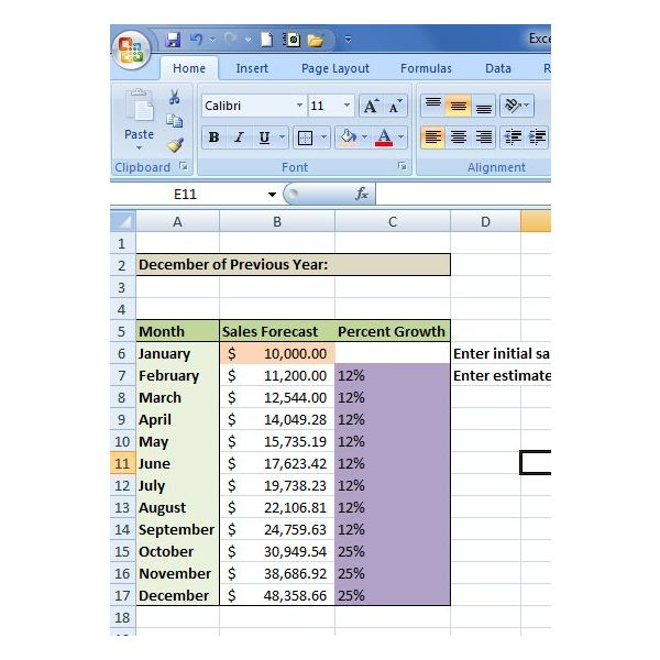 How To Create A Sales Forecast In Excel Free Excel Sales
