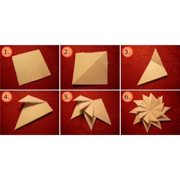 How To Make Origami Star Flower Thank You Cards