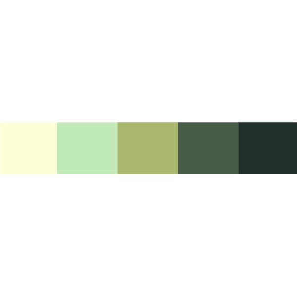 A muted green color scheme - this is a very peaceful, relaxing color scheme for a project