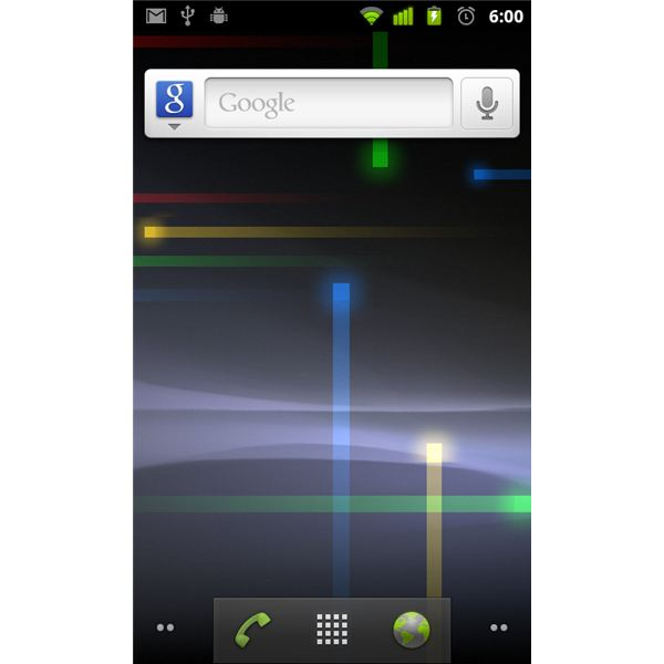 android gingerbread 2.3 home screen