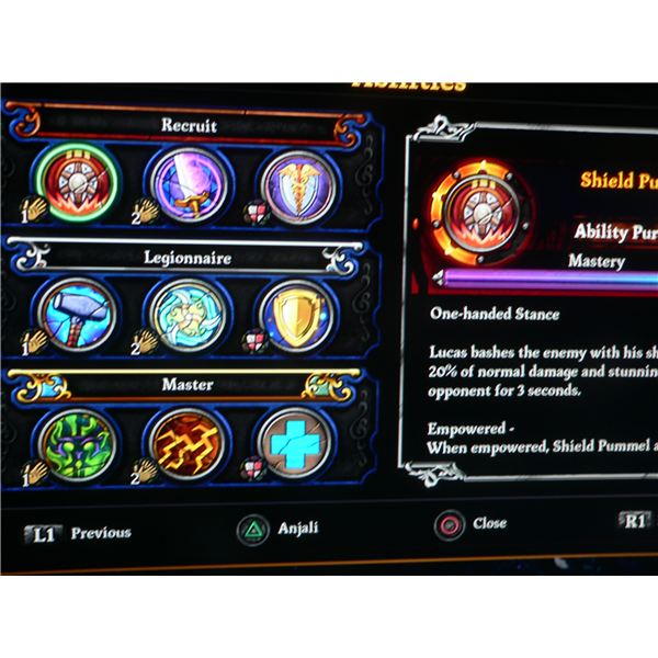 A look at the ability window for Lucas in Dungeon Siege 3.