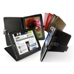 Tuff Luv Bi-Axis Napa Leather Case Cover for iPad Black