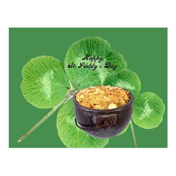 st-patricks-day-scrapbook-backgrounds-clover-gold