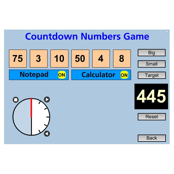 SMART Board Math Games: Countdown